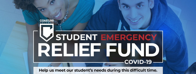 Coastline COVID-19 Student Emergency Relief Fund Banner
